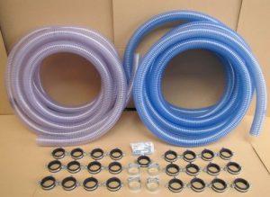 tubi adduzione e suzione pellet per sistema trasporto pellet con aspiratore