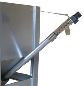 Coclea trasporto pellet foro 60 mm/motore 15W per bruciatori fino a 80 kw