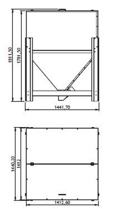 serbatoio pellet 1500 kg misure 1