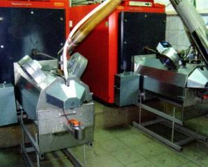 Caldaie da 150 kw convertite a pellet con FIREFOX PERFECT con cassetto ceneri