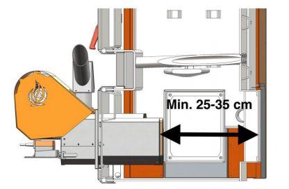 dimensioni camera combustione
