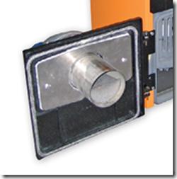 Bruciatore di pellet per conversione caldaie da gasolio a for Porta pellet da interno