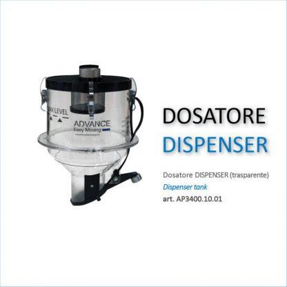 Dosatore dispenser per pellet